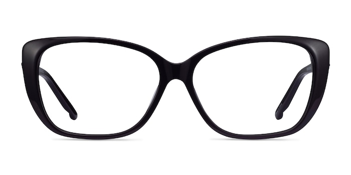 Elegance Noir Acétate Montures de Lunette de vue d'EyeBuyDirect