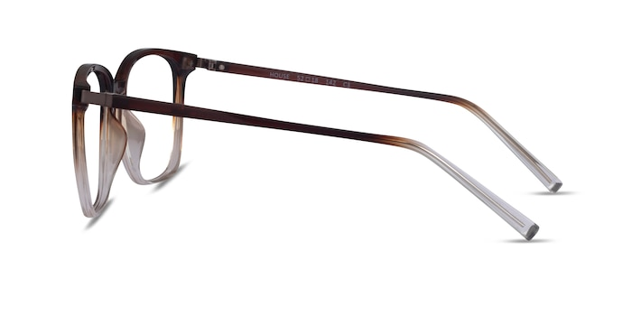 House Gradient Brown Plastic Eyeglass Frames from EyeBuyDirect