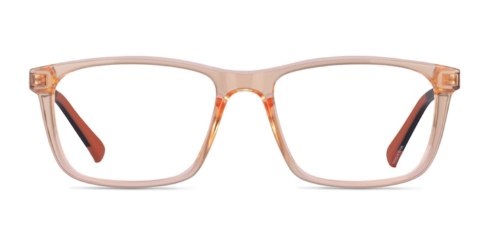 Brad Clear Orange Black Plastic Eyeglass Frames from EyeBuyDirect