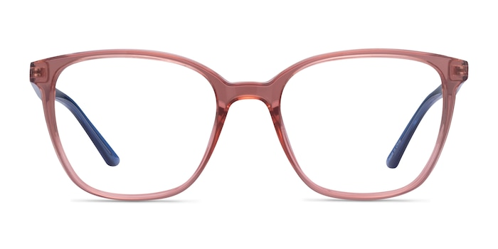Identical Clear Pink & Clear Blue Plastique Montures de Lunette de vue d'EyeBuyDirect