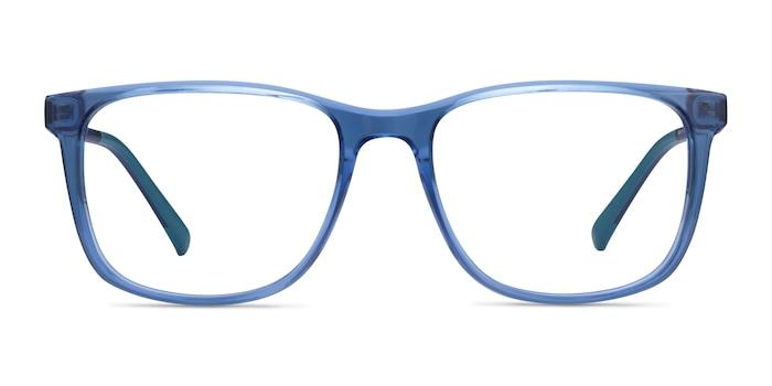 Freeze Clear Blue Plastique Montures de Lunette de vue d'EyeBuyDirect