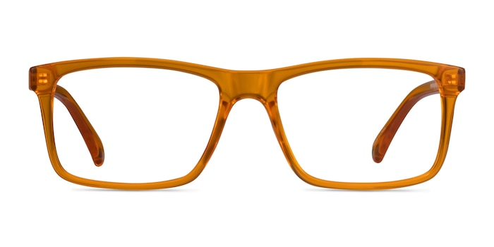 Community Clear Orange Plastic Eyeglass Frames from EyeBuyDirect