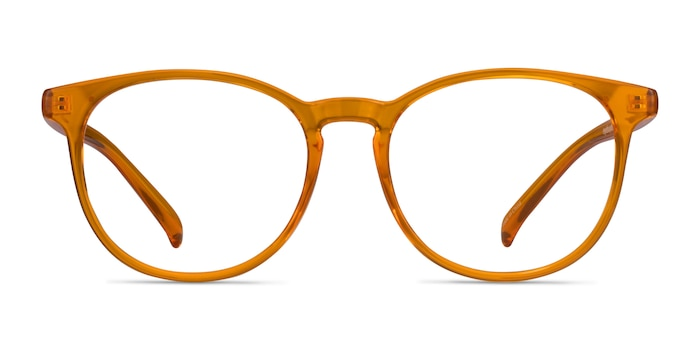 Rainbow Clear Orange Plastic Eyeglass Frames from EyeBuyDirect