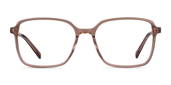 Nonchalance Clear Brown Acétate Montures de Lunette de vue d'EyeBuyDirect