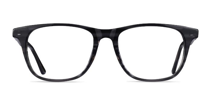 Easy Gray Striped Acétate Montures de Lunette de vue d'EyeBuyDirect