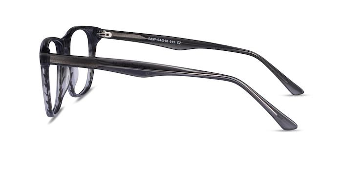 Easy Gray Striped Acetate Eyeglass Frames from EyeBuyDirect