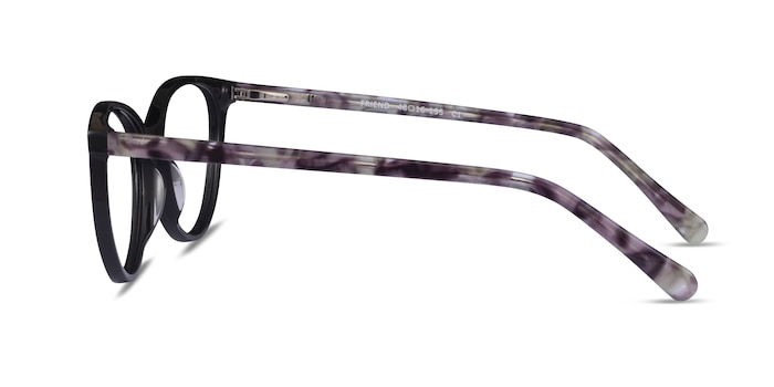Friend Black Floral Acetate Eyeglass Frames from EyeBuyDirect
