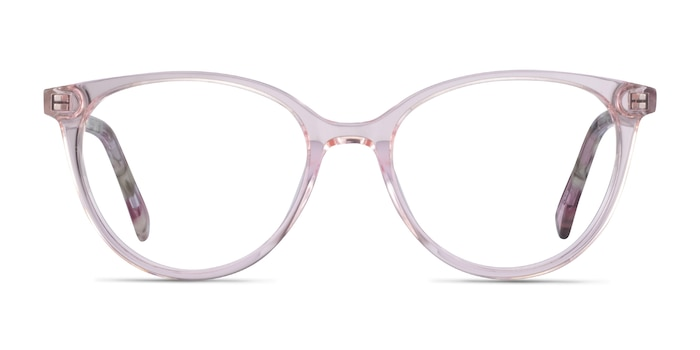 Friend Clear Pink Floral Acetate Eyeglass Frames from EyeBuyDirect