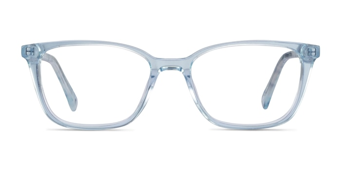 Cheesecake Clear Blue Acetate Eyeglass Frames from EyeBuyDirect