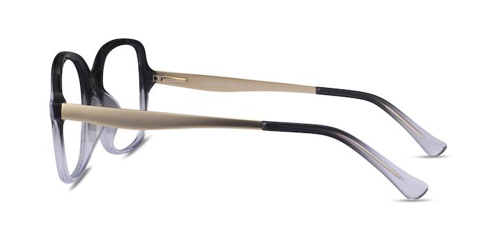 Clematis Black Clear Acétate Montures de Lunette de vue d'EyeBuyDirect