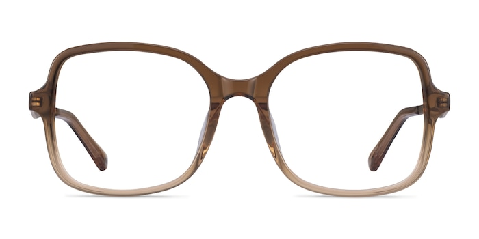 Clematis Clear Brown Acetate Eyeglass Frames from EyeBuyDirect