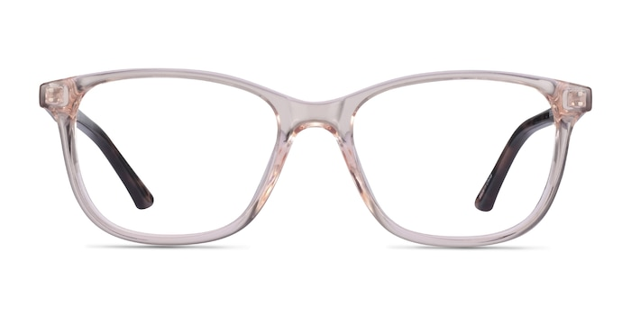 Paint Clear Pink Floral Plastic Eyeglass Frames from EyeBuyDirect