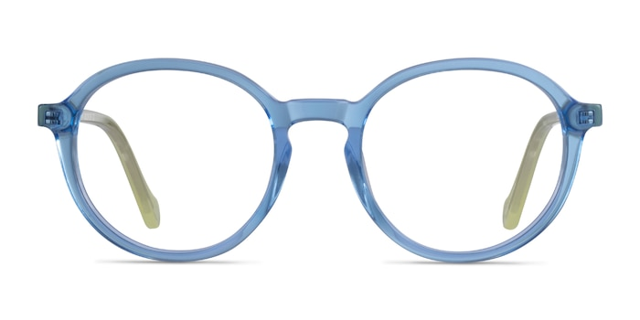 Happy Clear Blue Green Acetate Eyeglass Frames from EyeBuyDirect