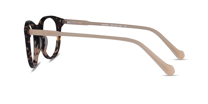Amaze Tortoise Beige Acetate Eyeglass Frames from EyeBuyDirect
