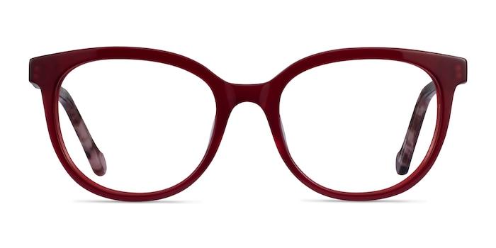 Popcorn Red Floral Acetate Eyeglass Frames from EyeBuyDirect