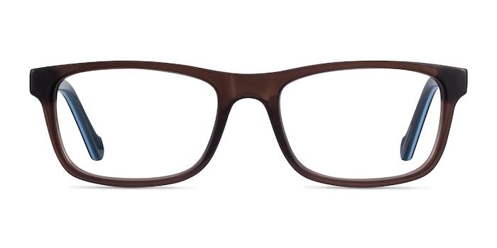 Scuba Brown Blue Acetate Eyeglass Frames from EyeBuyDirect