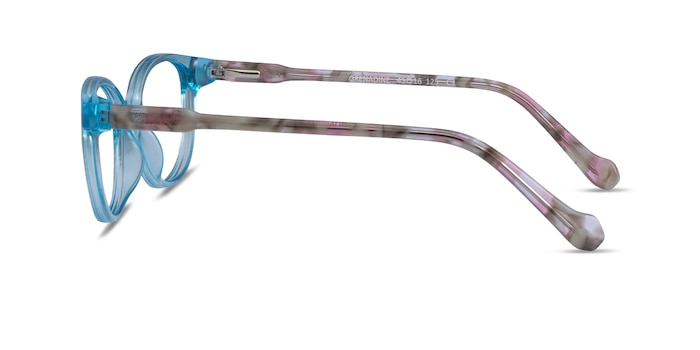 Grenadine Clear Blue Floral Acetate Eyeglass Frames from EyeBuyDirect