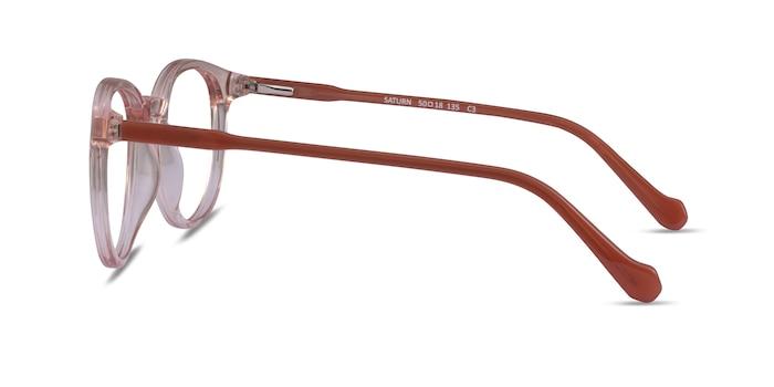 Saturn Clear Pink Terracotta Acetate Eyeglass Frames from EyeBuyDirect