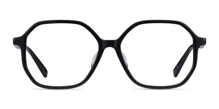 Crepuscule Black Acetate Eyeglass Frames from EyeBuyDirect