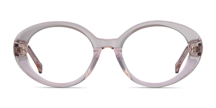 Bree Clear Beige Acetate Eyeglass Frames from EyeBuyDirect