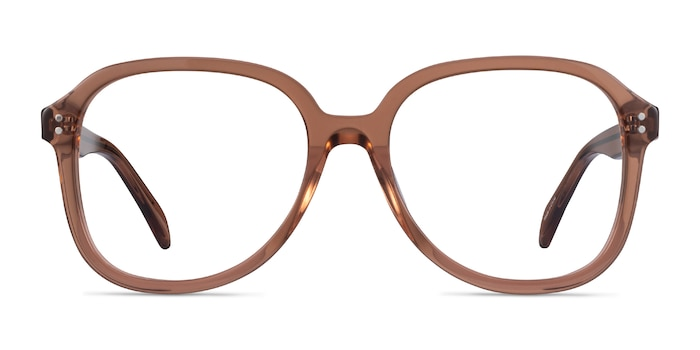 Tripp Clear Brown Acetate Eyeglass Frames from EyeBuyDirect