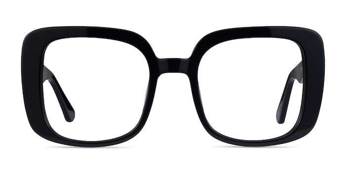 Calista Noir Acétate Montures de Lunette de vue d'EyeBuyDirect