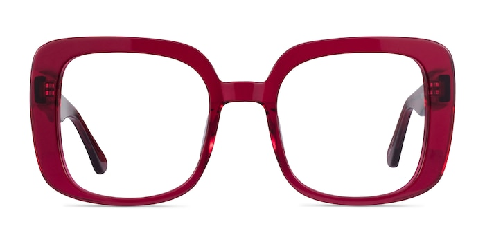 Calista Raspberry Acetate Eyeglass Frames from EyeBuyDirect
