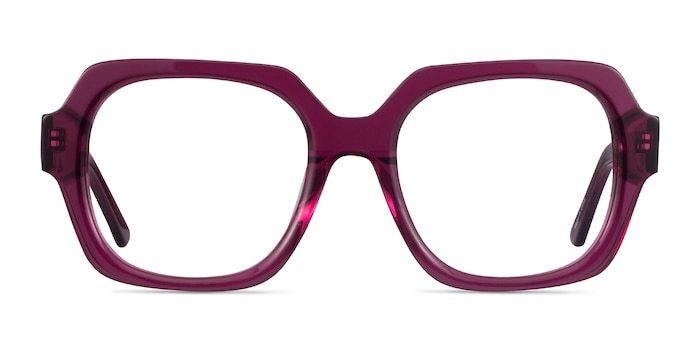 Ellen Clear Purple Acetate Eyeglass Frames from EyeBuyDirect