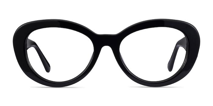 Dahlia Black Acetate Eyeglass Frames from EyeBuyDirect
