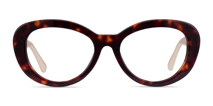 Dahlia Tortoise & Cream Acétate Montures de Lunette de vue d'EyeBuyDirect