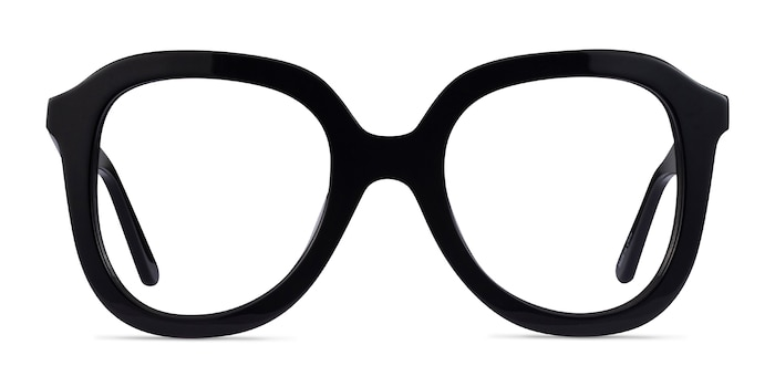 Cathy Black Acetate Eyeglass Frames from EyeBuyDirect