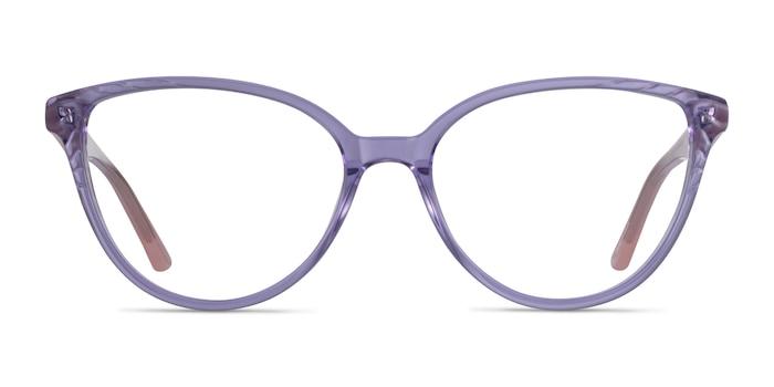 Wonder Clear Purple Pink Acétate Montures de Lunette de vue d'EyeBuyDirect