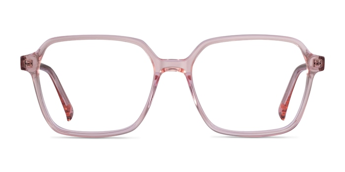 Bucolic Clear Pink Acetate Eyeglass Frames from EyeBuyDirect