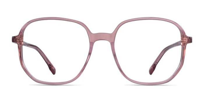 Natural Clear Pink Acetate Eyeglass Frames from EyeBuyDirect