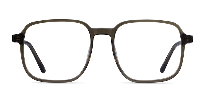 Ozone Clear Dark Green Acetate Eyeglass Frames from EyeBuyDirect
