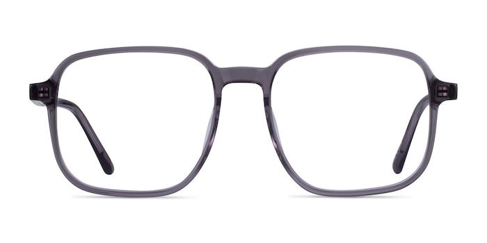 Ozone Clear Gray Acetate Eyeglass Frames from EyeBuyDirect