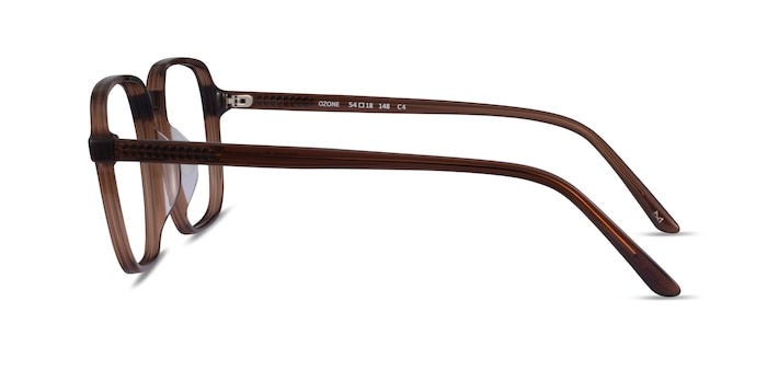Ozone Clear Brown Acetate Eyeglass Frames from EyeBuyDirect