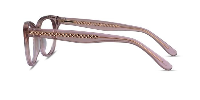 Arcady Clear Pink Gold Acetate Eyeglass Frames from EyeBuyDirect