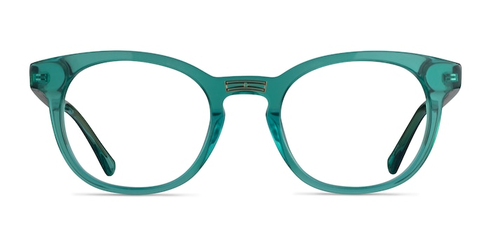 Hoop Emerald Green Gold Acetate Eyeglass Frames from EyeBuyDirect