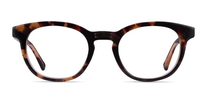 Hoop Tortoise Gold Acetate Eyeglass Frames from EyeBuyDirect