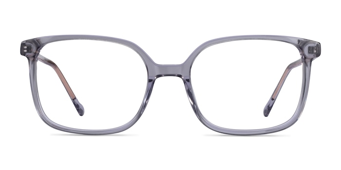 Orient Clear Gray Acetate Eyeglass Frames from EyeBuyDirect