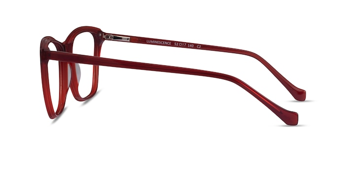 Luminescence Iridescent Red Acetate Eyeglass Frames from EyeBuyDirect