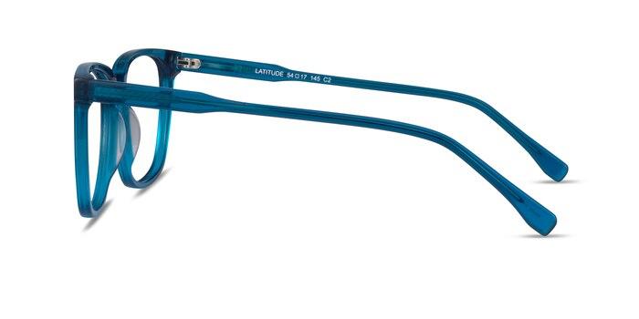 Latitude Clear Blue Acetate Eyeglass Frames from EyeBuyDirect