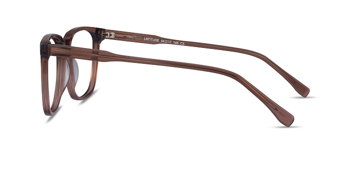 Latitude Clear Brown Acetate Eyeglass Frames from EyeBuyDirect