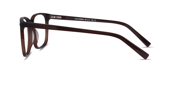 California Clear Brown Acetate Eyeglass Frames from EyeBuyDirect