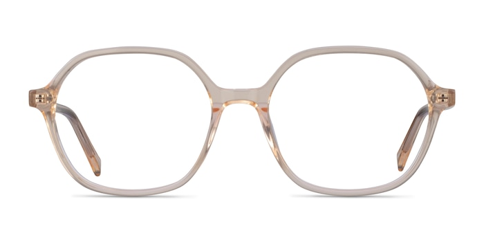 Pigment Clear Yellow Acetate Eyeglass Frames from EyeBuyDirect