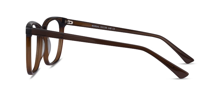 Boreal Clear Brown Acetate Eyeglass Frames from EyeBuyDirect