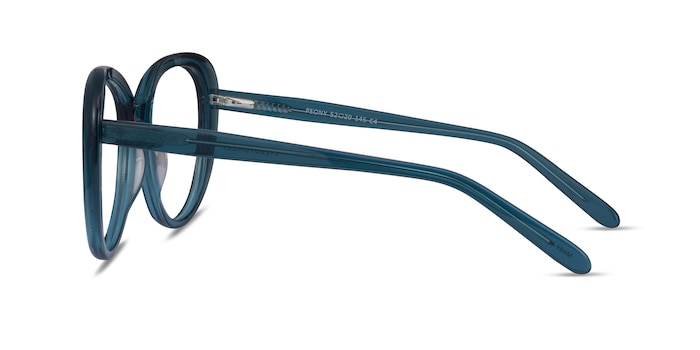 Peony Clear Teal Acetate Eyeglass Frames from EyeBuyDirect