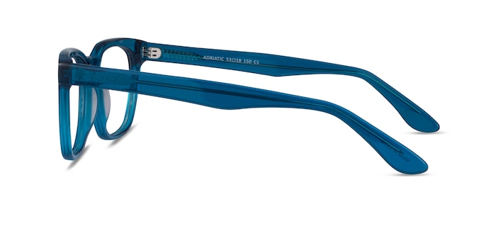 Adriatic Clear Blue Acetate Eyeglass Frames from EyeBuyDirect
