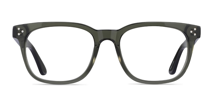 Adriatic Clear Khaki Green Acetate Eyeglass Frames from EyeBuyDirect